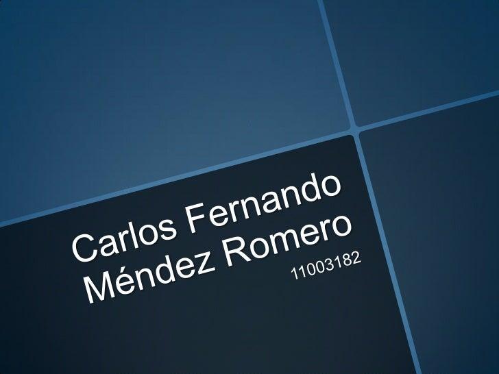 Carlos fernando méndez romero