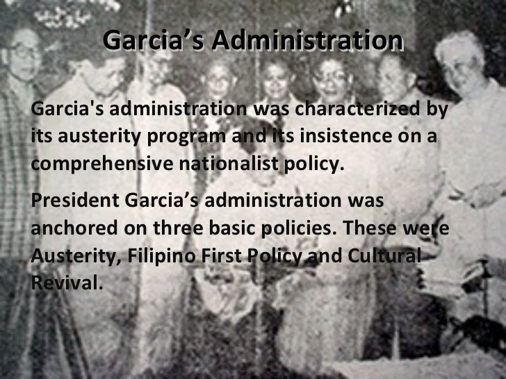 carlos garcia administration Carlos p garcia administration - download as word doc (doc / docx), pdf file (pdf), text file (txt) or read online president garcia contributions.