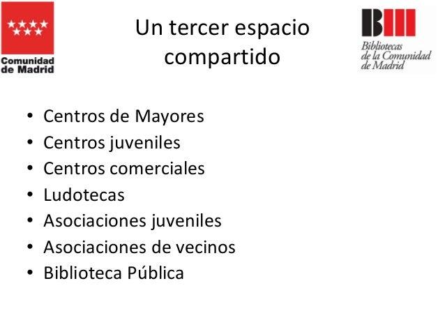 La biblioteca pública: un espacio para la interacción. Ponencia de Carlos García-Romeral Pérez Slide 2