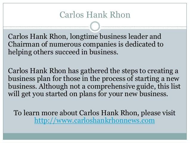 Carlos Hank Rhon, Steps To Create A Business Plan