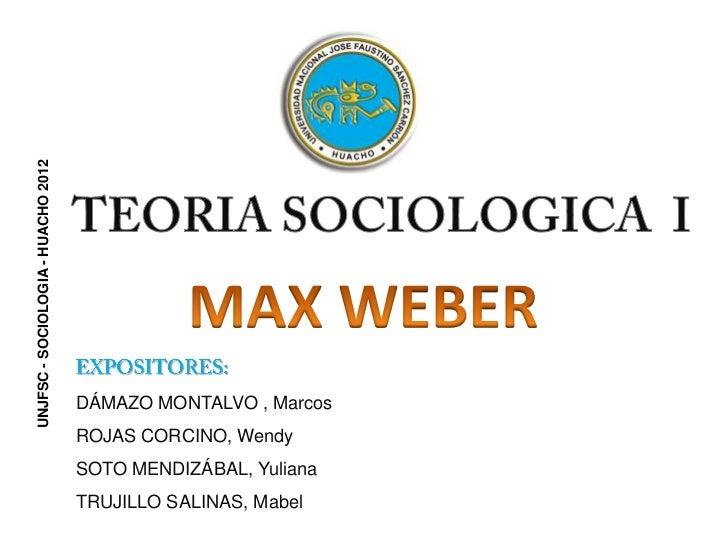Max Weber y Carlos Marx Slide 2