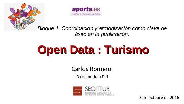 Bloque 1. Coordinación y armonización como clave de éxito en la publicación. Carlos Romero Director de I+D+i 3 de octubre ...