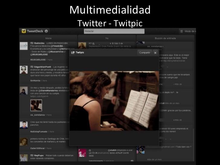 Multimedialidad Twitter - Twitpic