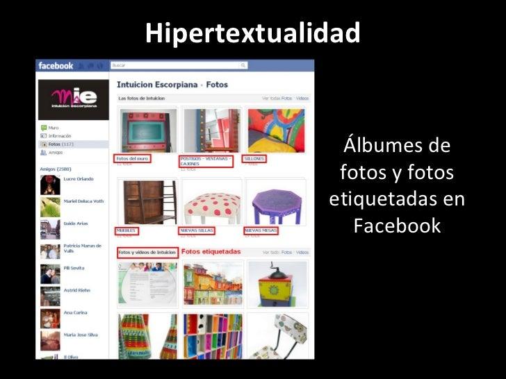 Hipertextualidad Álbumes de fotos y fotos etiquetadas en Facebook