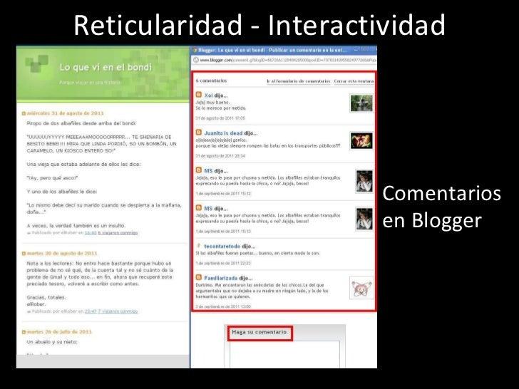 Reticularidad - Interactividad Comentarios en Blogger