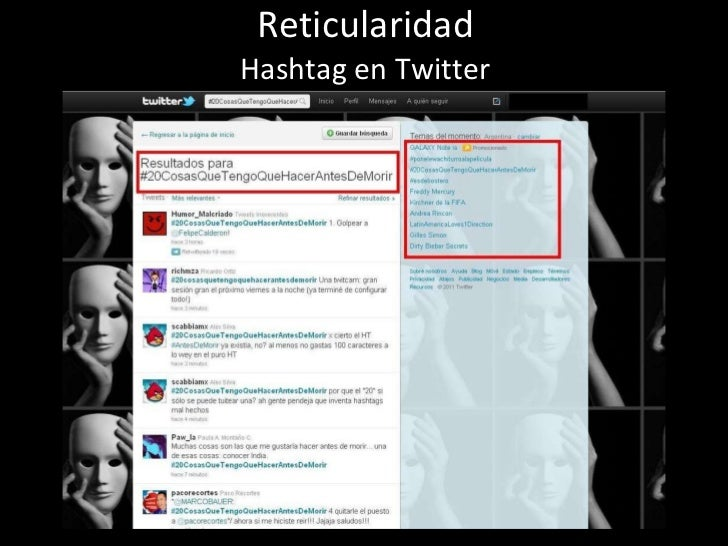 Reticularidad Hashtag en Twitter