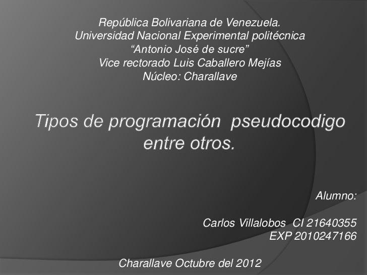 República Bolivariana de Venezuela.Universidad Nacional Experimental politécnica           ―Antonio José de sucre‖    Vice...