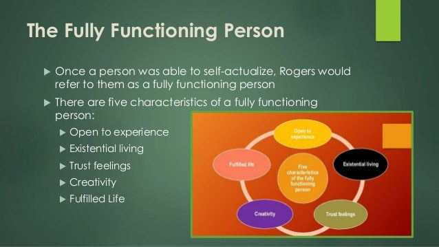 carl rogerss concept of a fully functioning person The fully functioning person rogers believed that every person could achieve their goal  for carl rogers (1959) a person who has high self-worth, that is, has .