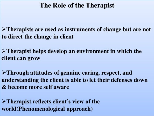 carl rogers client centered therapy