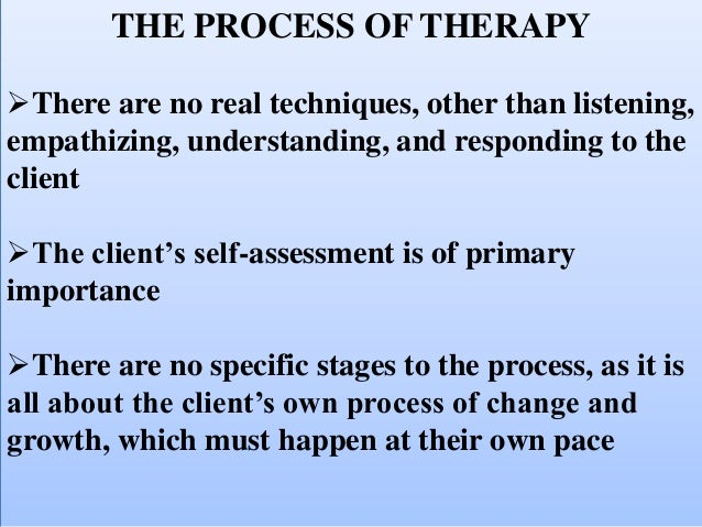 carl rogers person centred therapy Person-centered therapy uses a non-authoritative approach that allows clients to take more of a lead carl rogers' person-centered approach non-directive, client.