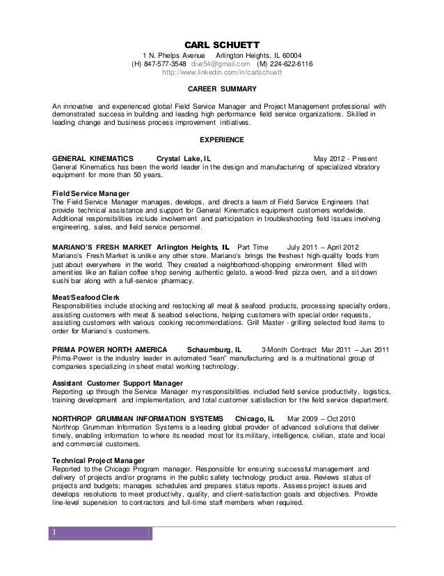 Carl schuetts resume
