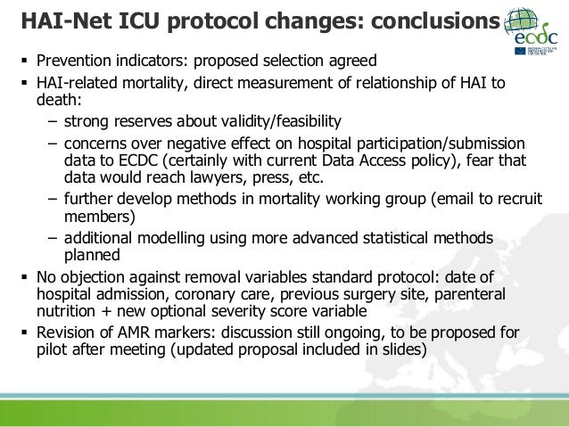 Changes To Hai Net Icu Protocol Carl Suetens Ecdc