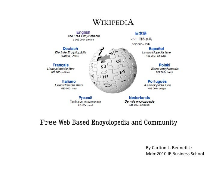 Free Web Based Encyclopedia and Community                                  By