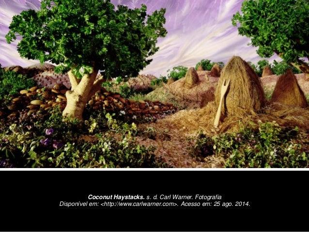 Coconut Haystacks. s. d. Carl Warner. Fotografia  Disponível em: <http://www.carlwarner.com>. Acesso em: 25 ago. 2014.