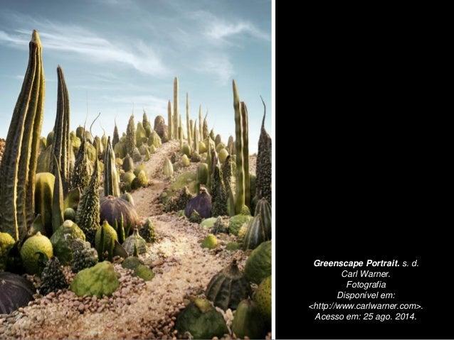 Greenscape Portrait. s. d.  Carl Warner.  Fotografia  Disponível em: <http://www.carlwarner.com>.  Acesso em: 25 ago. 2014.