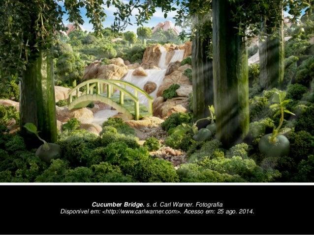 Cucumber Bridge. s. d. Carl Warner. Fotografia Disponível em: <http://www.carlwarner.com>. Acesso em: 25 ago. 2014.