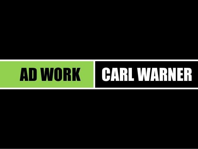 AD WORK  CARL WARNER