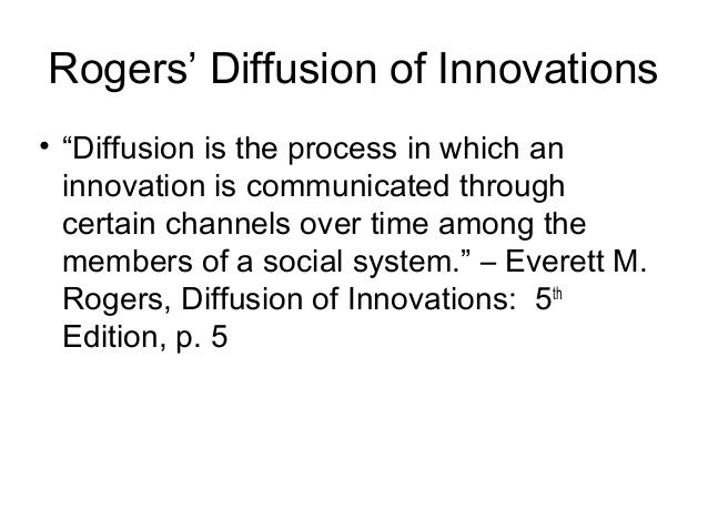 diffusion of innovations rogers 5th edition pdf