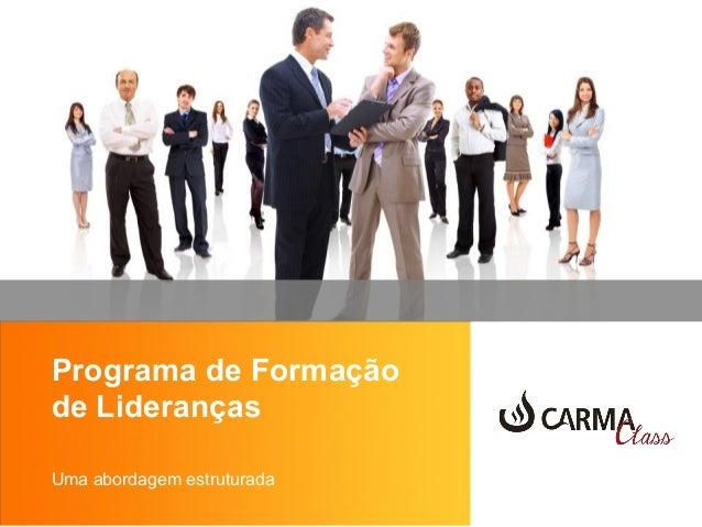 Programa de Formação de Lideranças Uma abordagem estruturada