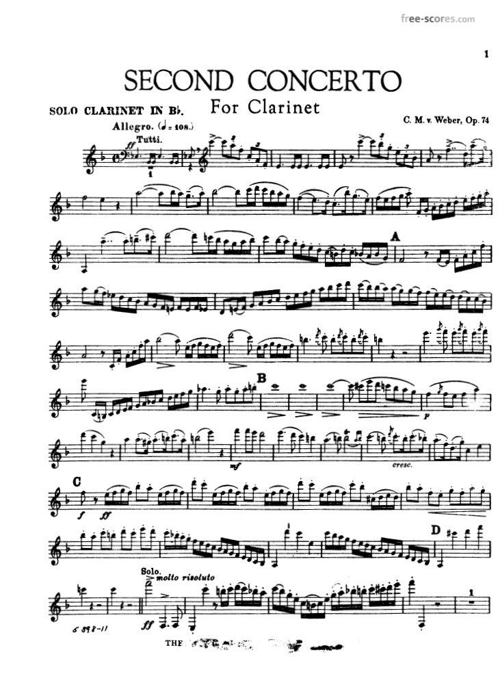 Car maria von weber   clarinet concerto no.2 op.74 (clar)