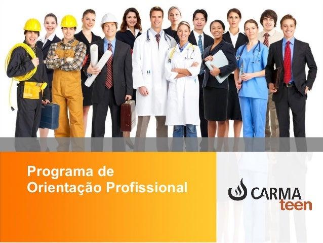 Programa de Orientação Profissional