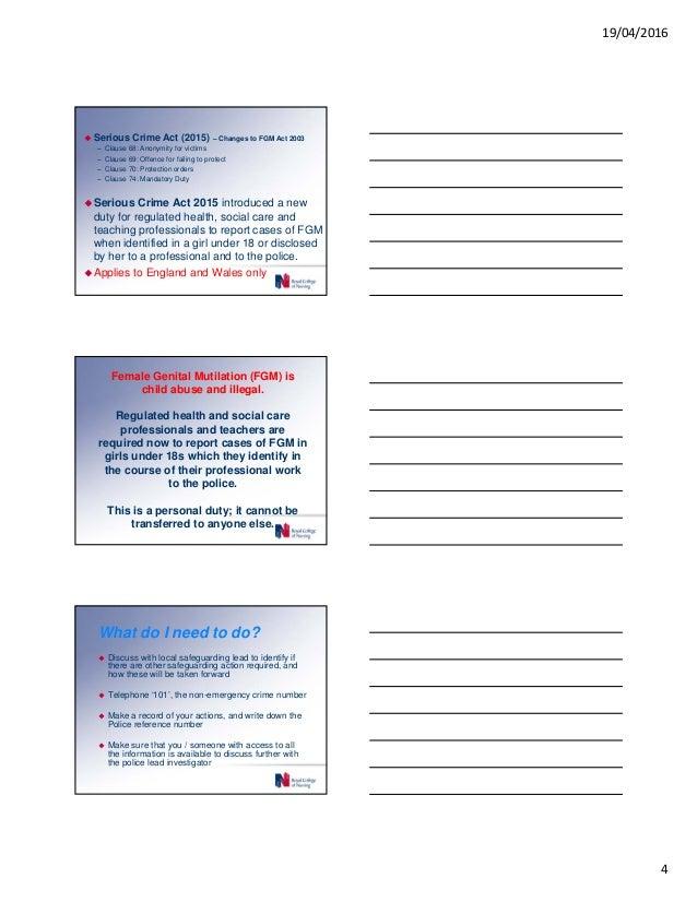 Procedure of female genital cutting health and social care essay