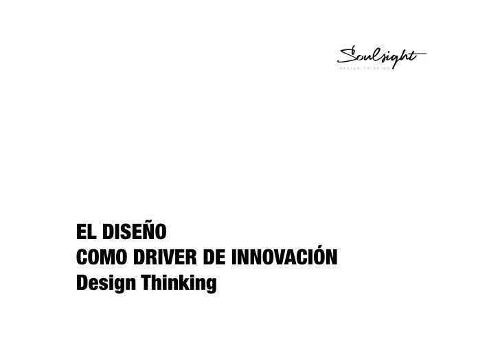 EL DISEÑO COMO DRIVER DE INNOVACIÓN Design Thinking