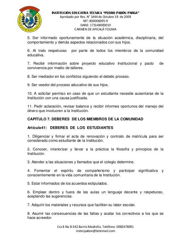 Carmen de apicalá ie técnica pedro pabón parga manual de