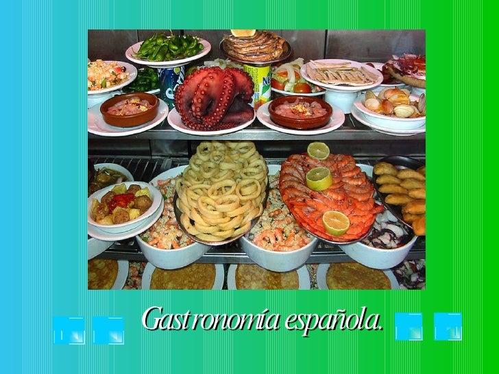 Gastronomía española.