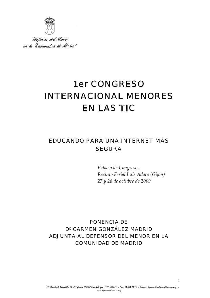 1er CONGRESO     INTERNACIONAL MENORES            EN LAS TIC                                                              ...