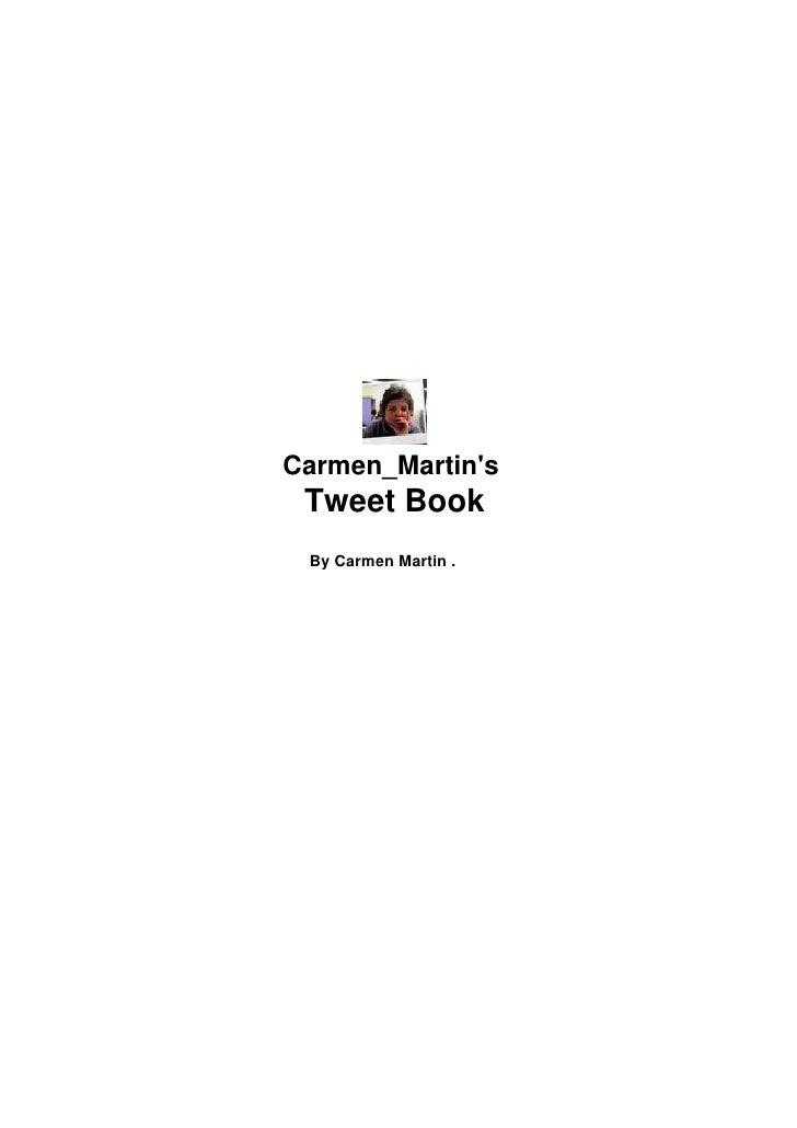 Carmen  Martin  Tweet  Book  Noviembre2009