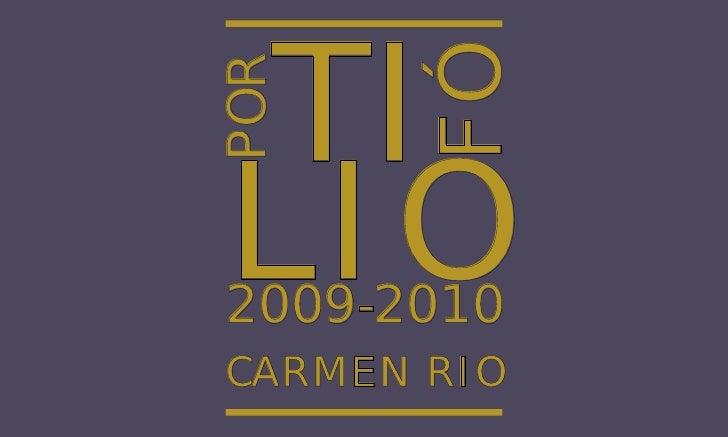 TI       FÓPORLIO2009-2010CARMEN RIO