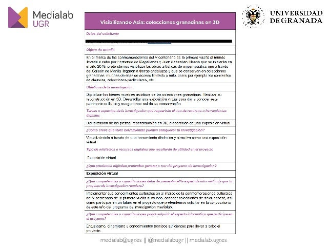 Medialab UGR & The Carmenta Program: A Way to Promote the