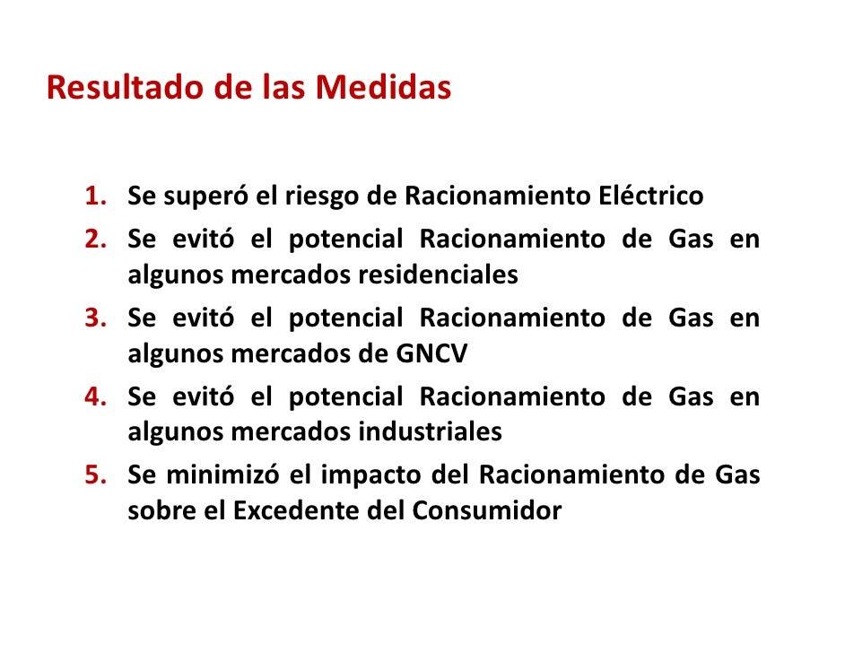 Carmenza chahin mme medidas regulatorias adoptadas for Racionamiento de luz en aragua