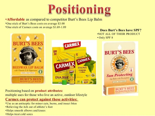 1 does burt's bees' pricing strategy Since the 1980s, burt's bees has been producing natural personal care products  for your beauty and health find burt's  mix & match full-price items sitewide   gentle, natural, extra-special care just right for your little one's delicate skin  we  can't all have full lips, but we can learn how to make them look fuller in no time.