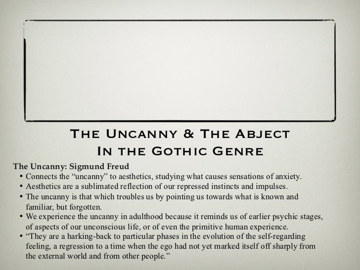 Uncanny freud essay