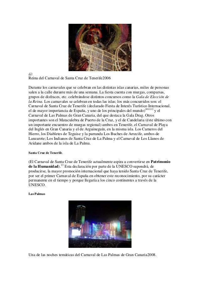 Reina del Carnaval de Santa Cruz de Tenerife2006Durante los carnavales que se celebran en las distintas islas canarias, mi...