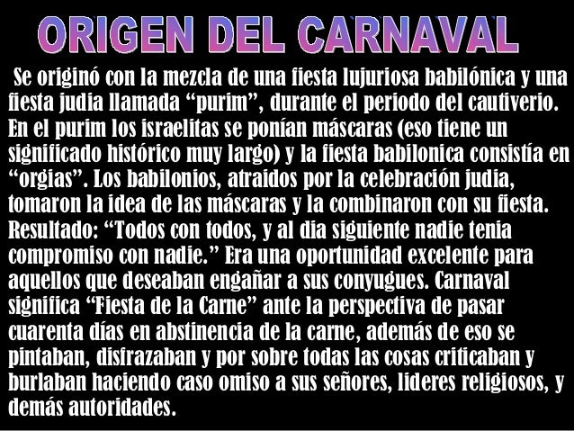 Resultado de imagen de Carnaval o carne para baal
