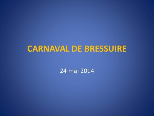 CARNAVAL DE BRESSUIRE 24 mai 2014
