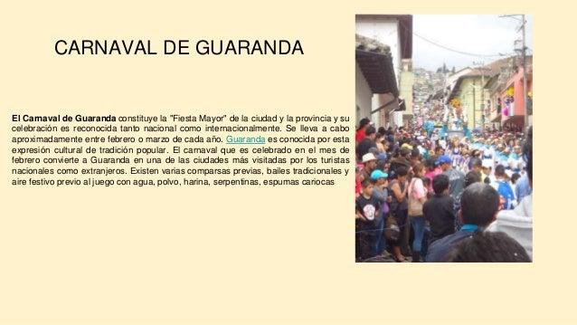 """El Carnaval de Guaranda constituye la """"Fiesta Mayor"""" de la ciudad y la provincia y su celebraci�n es reconocida tanto naci..."""