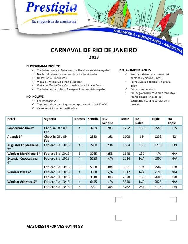 CARNAVAL DE RIO DE JANEIRO                                                                2013              EL PROGRAMA IN...