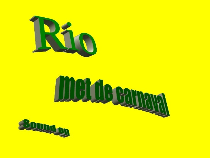 Sound on Rio met de carnaval