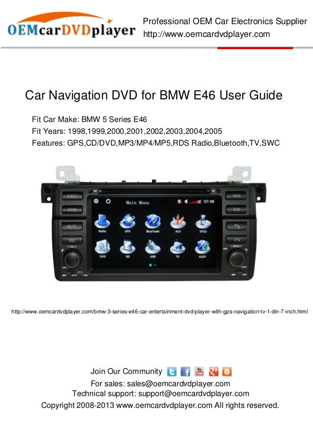 car navigation dvd for bmw e46 user guide. Black Bedroom Furniture Sets. Home Design Ideas