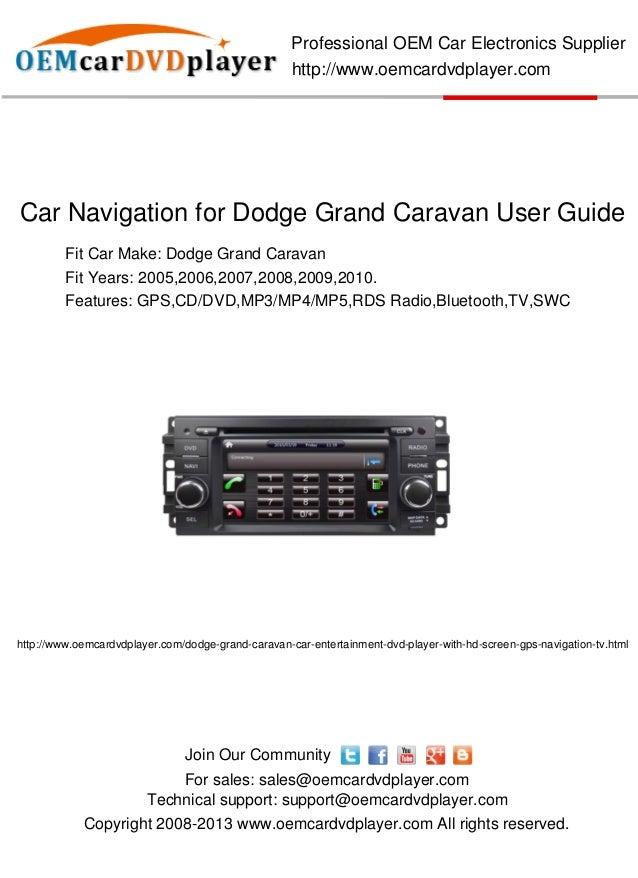 car navigation for dodge grand caravan user guide rh slideshare net User Guide Template User Training