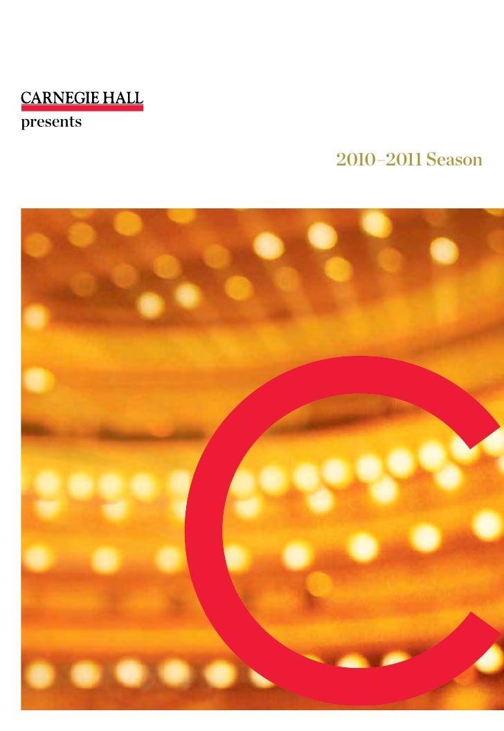 presents             2010–2011 Season