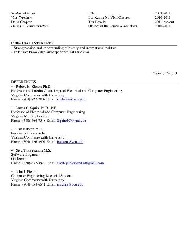 Student Chapter President Resume