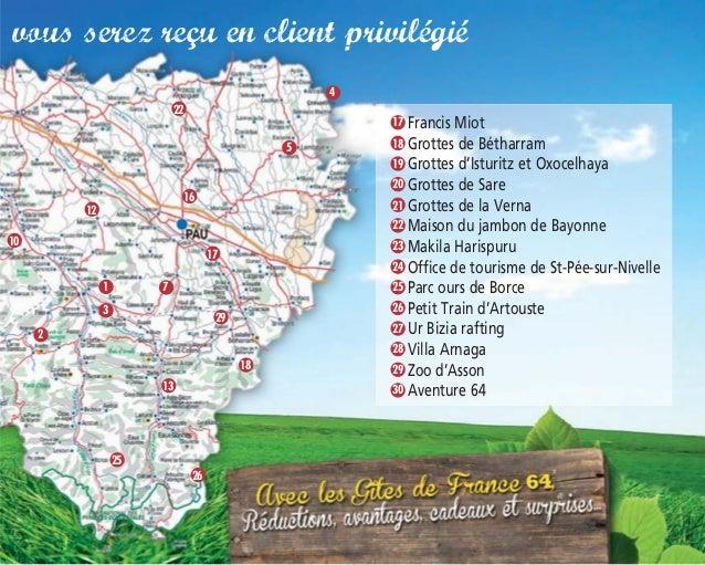 Carnet privil ge 2014 pour les g tes de france 64 - Office de tourisme saint pee sur nivelle ...