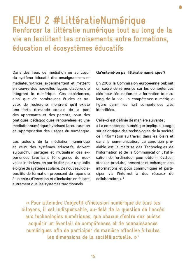 19 «L'innovation pédagogique est innovante par rapport à un contexte, une temporalité. Elle ne l'est pas en soi. Il faut ...