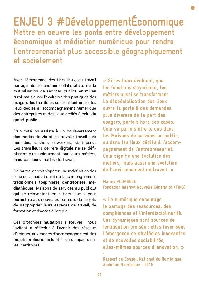 27 ENJEU 4 #StratégiesTerritoriales élaborer les stratégies d'aménagement des territoires en prenant en compte la médiatio...